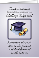 Husband, College Graduation, Remember the Past card