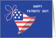 Patriots Day Ring History Bell card