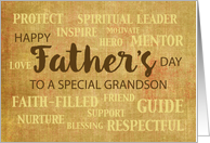 Grandson Religious Father's Day Qualities card