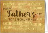 Nephew Religious Father's Day Qualities card