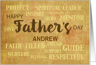 Name Specific Religious Father's Day Qualities card