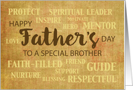 Brother Religious Father's Day Qualities card