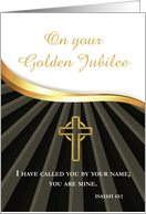Golden Jubilee of Ordination 50 Year Anniversary Black Gold card