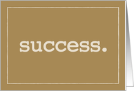 Success Definition Congratulations Simple Brown card