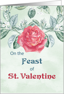 Rose Feast of St. Valentine card