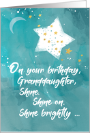 Granddaughter Tween or Teen Birthday Night Sky Bright Star card