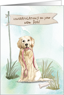 Golden Retriever Congratulations on New Dog card