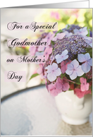 Godmother on Mother's Day with Flowers, Congratulations card
