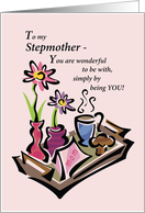 Happy Mother's Day to Stepmother with Breakfast Illustation card