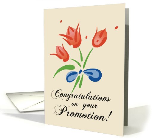 Congratulations on your Promotion Red Bouquet card 187878