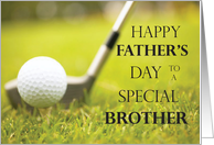 Happy Father's Day for Brother, Golf Course card