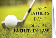 Happy Father's Day for Father-in-Law, Golf Course card
