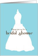 Bridal Shower Invitation with Wedding Dress card