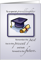 Graduation Congratulations for Granddaughter with Cap and Diploma card
