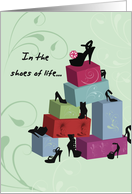 Friendship, High-heeled Shoes with Boxes for Friend, Accessories card