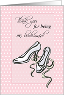 Thank You for being my Bridesmaid, Shoes, Fashion, Wedding card