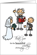 Thank You Officiant for the Wedding Ceremony , Stick Figures card