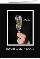 Thank You for Father of the Groom with Champagne, Wedding card