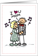 Thanks Mom of Groom, Thank You to Mother, Stick Figure card