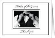 Thank You to Father of Groom, Black and White Collection, Wedding card
