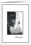 Thank You General Black and White Collection, Wedding, Bride and Groom card