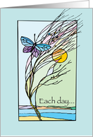 Butterfly, Recovery Birthday, 12 Step Addiction Recovery, Illustration card