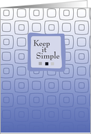 Keep it Simple, Birthday Recovery, 12 Step, Addiction card