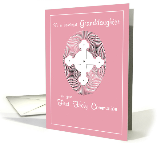 GRANDDAUGHTER First Communion Pink, Religious card (383538)