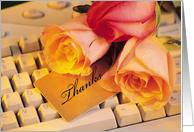 Admin Pro Day Roses, Keyboard and Mouse card