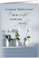 Mother-in-Law Wedding Invitation, Excited to Join Family with Roses card
