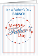 BRUNCH Invitation Father's Day for All the Dads, Baseball card