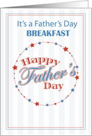 BREAKFAST Invitation Father's Day, Baseball card