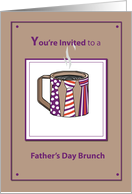 Brunch Invitation Father's Day Celebration with Much and Neckties card