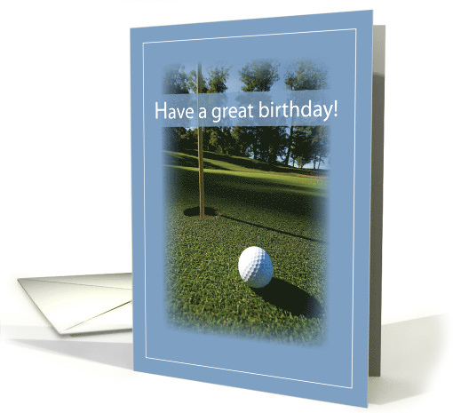 Golf Birthday with Field and Ball, Sport card (465967)