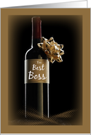 Wine Bottle Boss's Day, Holiday card