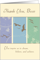 Thank You Boss on Boss's Day with Birds card
