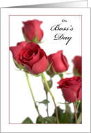 Red Roses Boss's Day, Holiday card