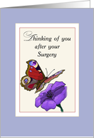 Surgery Get Better with Butterfly and Flower card