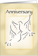 Doves Wedding Anniversary, Religious card