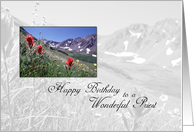 Moutains Priest Birthday Priest card