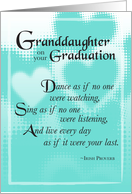 Granddaughter Graduation card