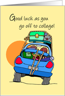 Good Luck Going to College, Car card