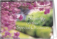 Blank Blessings on Special Occasion card