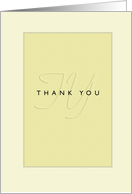 Thank You Interview Embossed-Like card