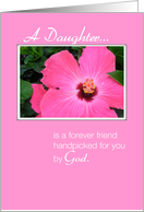 Daughter, Picked by God, Flower card