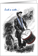 Confederate Memorial Day Drummer Boy card