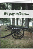 Confederate Memorial Day, Cannons card