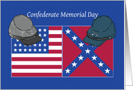 Confederate Memorial Day Hats and Flags card