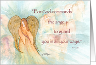 Psalm 91 Thinking of You, Angel card
