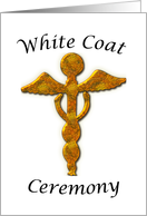 White Coat Ceremony Congratulations Gold Medical Symbol card